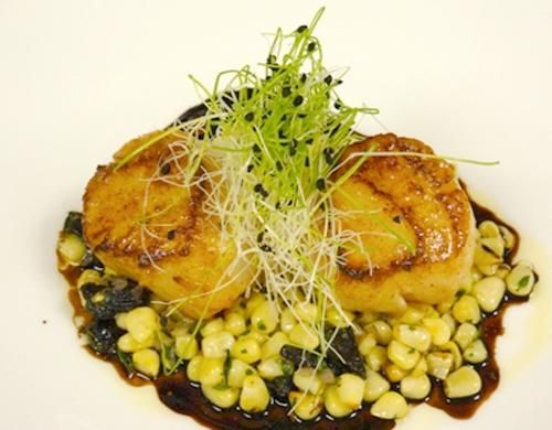 Sauteed Scallops, Sweet Corn Ragout, Balsamic Reduction | Charlie ...