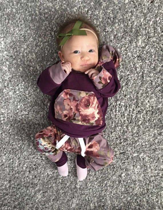 baby girl outfit / baby girl clothes / floral print / baby