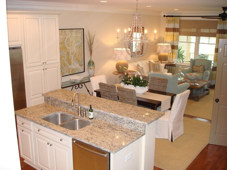 Love the colors saltmarsh condo on seabrook island sc for Kitchen dining room layout ideas