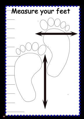 Role play The Shoe shop mesure your feet poster