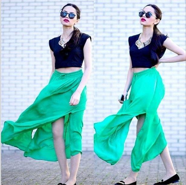 Vila Elina maxi skirt #vilaclothes