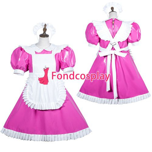 Sissy maid pvc dress lockable Uniform cosplay costume Tailor-made[G3752] #Affiliate