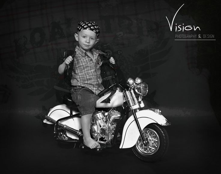 little boy on motorcycle-#1
