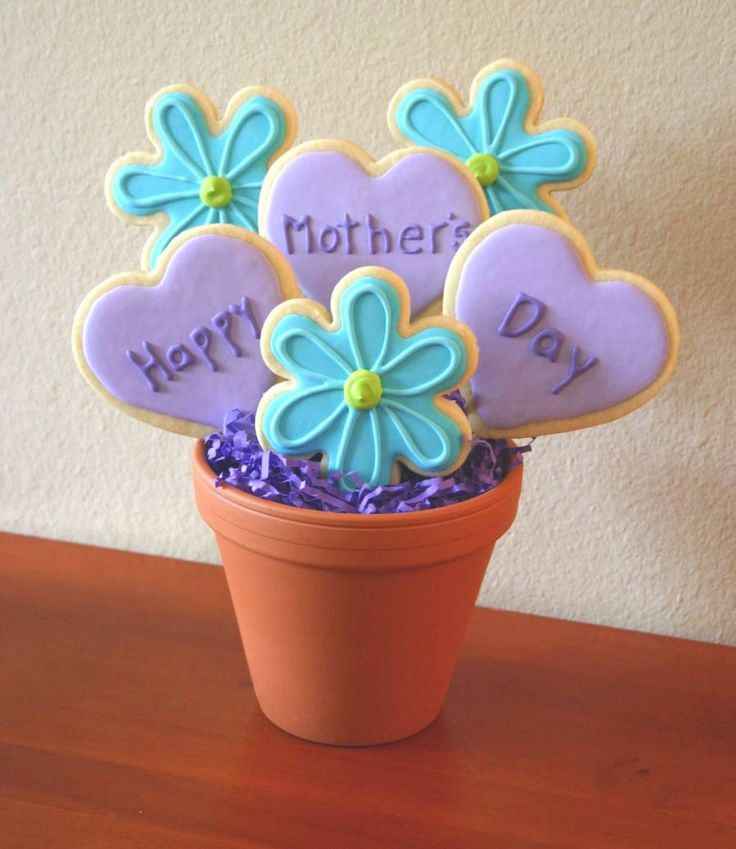 Mother's Day Bouquet Lemon No fail sugar cookies with Royal icing