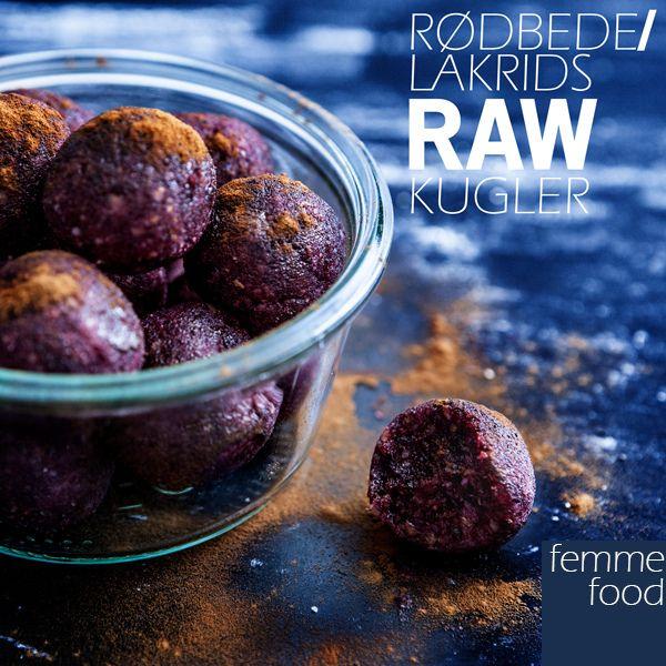 Beetroot / licorice raw balls raw balls, vegan, glutenfree, milkfree