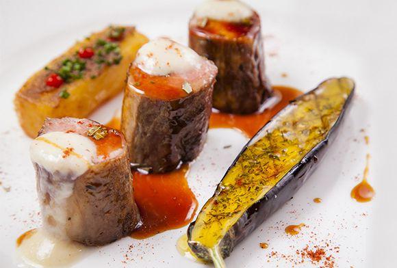 Cristiano Andreini | Filetto di agnello, melanzane, patate e fonduta di pecorino