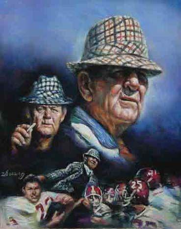 University of Alabama Coach Paul Bear Bryant Art Print