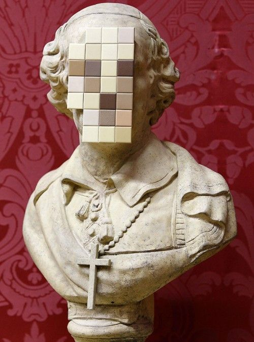 Banksy, Cardinal Sin #sculpture