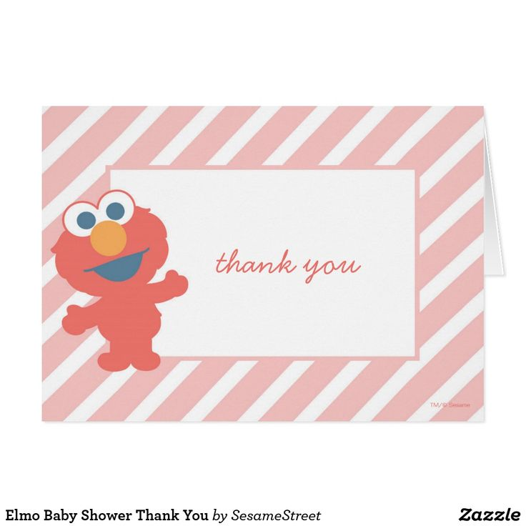 Elmo Baby Shower Thank You Card It's baby face Elmo! © 2014 Sesame Workshop. www.sesamestreet.org