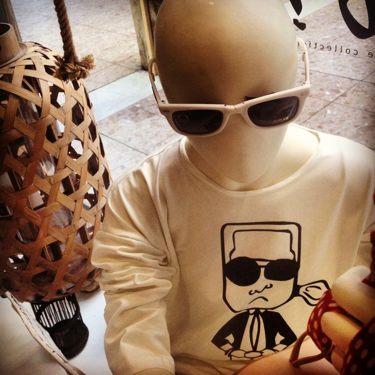 karl who?? maxi shirt black & white