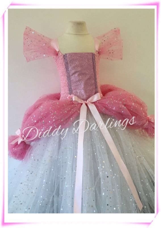 Sparkly Ariel Tutu Dress Little Mermaid Tutu Costume Princess Pink Ballgown