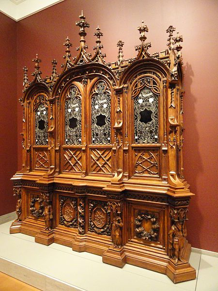 File:Bookcase, Bulkley and Herter manufacturer, Gustave Herter designer, Ernst Plassmann woodcarver, 1852-1853 - Nelson-Atkins Museum of Art - DSC09206.JPG