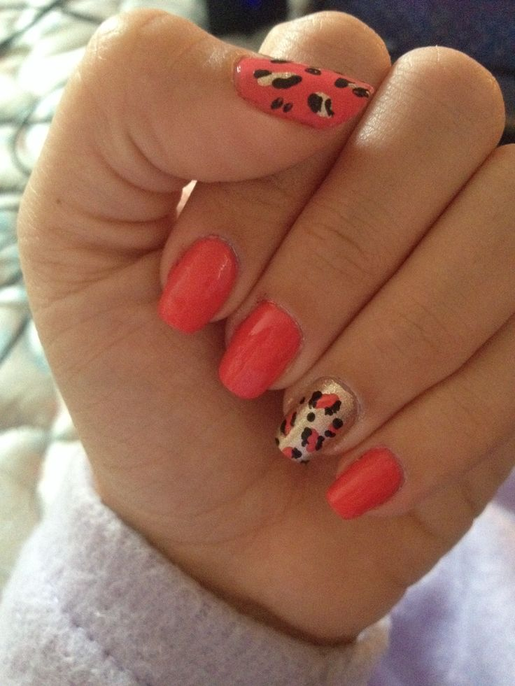 53 best nails i have done myself images on pinterest bricolage diy pink and gold cheetah print nails solutioingenieria Choice Image
