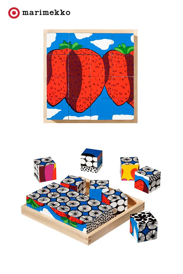 Bring color and composition into your little one's world with this playful Marimekko for Target Wood Blocks Set. These beech wood blocks come in multiple signature Marimekko prints and include a wood tray for organizing and storage. Have fun mixing and matching with the kids for endless ways to play with print. Play on starting April 17th. Click to peruse the entire collection lookbook featuring fashion, home, outdoor and more.