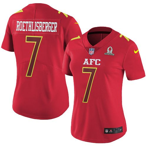 Nike Pittsburgh Steelers Women's #7 Ben Roethlisberger Limited Red 2017 Pro Bowl NFL Jersey