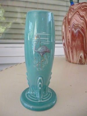 Vintage Fiesta Dinnerware Turquoise Moon Over Miami Bud Vase