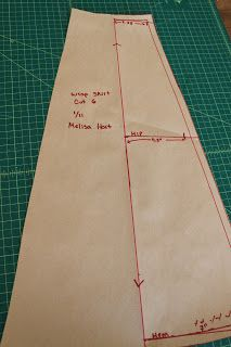 Formula for drafting gore skirt panels.    The Cordelia Files: Make Your Very Own Reversible Wrap Skirt/ How to Draft a Gored Skirt from Measurements.