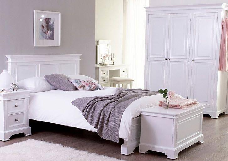Idei de dormitoare albe stil shabby chic-antic elegant
