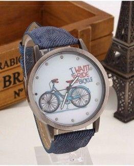 Dámské hodinky s látkovým páskem modré + POŠTOVNÉ ZDARMA