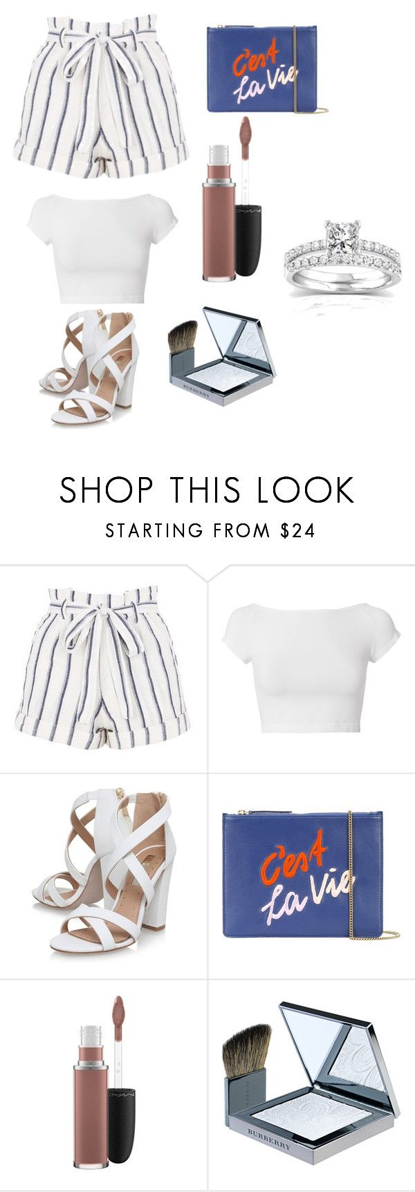 """""""Untitled #469"""" by ribeirocristiana ❤ liked on Polyvore featuring Topshop, Helmut Lang, Miss KG, Lizzie Fortunato, MAC Cosmetics, Burberry and Annello"""