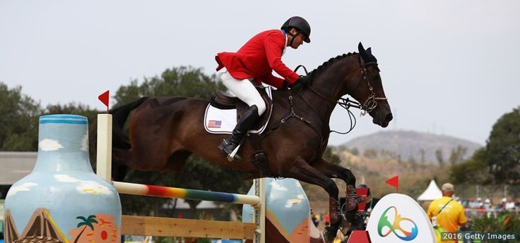 Phillip Dutton competes aboard Mighty Nice in the eventing team jumping final and individual qualifier at the Rio 2016 Olympic Games at the Olympic Equestrian Centre on Aug. 9, 2016 in Rio de Janeiro. Dutton won bronze in the individual event.