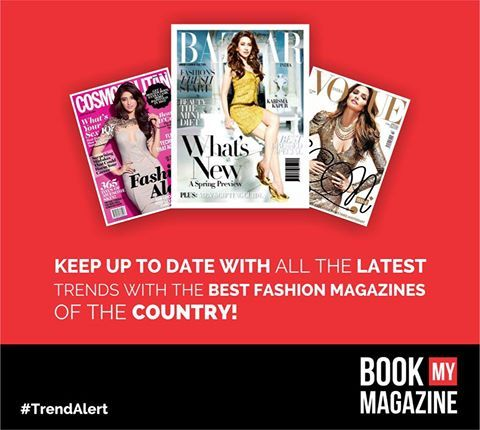 Get to know the latest fashion trends, celebrity gossip, style tips from some of the most sought after fashion magazines of the country! Subscribe Now at wwwBookMyMagazine.com! #BookMyMagazine #Cosmopolitian #Elle #Vogue #HarpersBazaar #FashionMagazines #TrendAlert