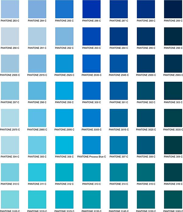 Random Pinterest Blue Pantone Color And Shades Of