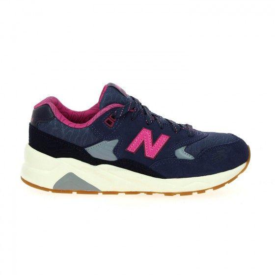 Baskets enfant violet et rose NEW BALANCE KL 580 - Bessec-chaussures.com