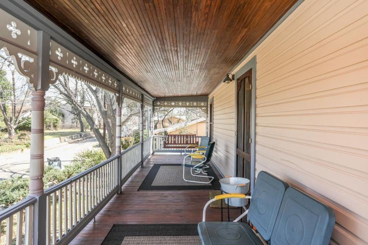 Cyclismo- Suite 2 is a 1 bedroom/ 1 bath accommodation that is located just 2 blocks south of Main Street. You'll love the private balcony. #fredericksburg #texas #tx #guesthouse #beautiful #deck #balcony