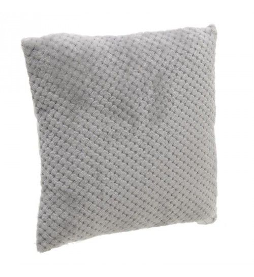 SYNTHETIC FUR FILLING CUSHION IN GREY COLOR 40X40