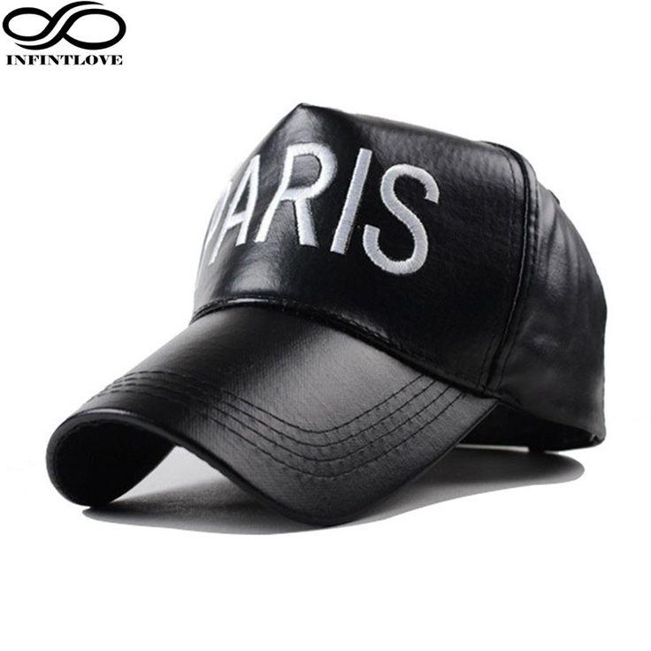IFINITLOVE Fashion Men Women Paris Letters PU Leather Snapback Casquette Street Style Hip Hop Caps   Baseball Cap (Adjust Size) //Price: $13.52 & FREE Shipping //     #hashtag3