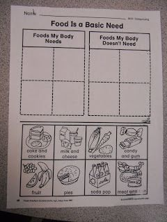 There Was an Old Lady Who Swallowed a Fly....Food Pyramid and Nutrition Activities