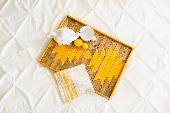 Hey, I found this really awesome Etsy listing at https://www.etsy.com/listing/216981174/sunflower-yellow-breakfast-tray