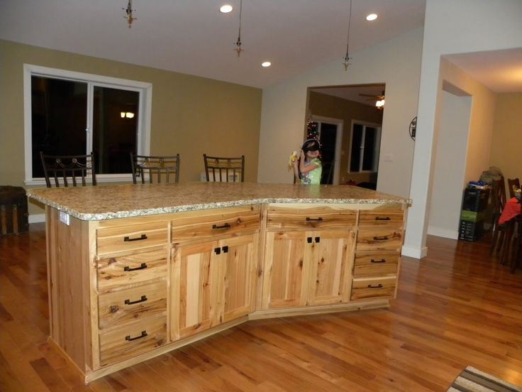 10 best home decor images on pinterest buy house book covers and granite kitchen - Knotty hickory kitchen cabinets ...
