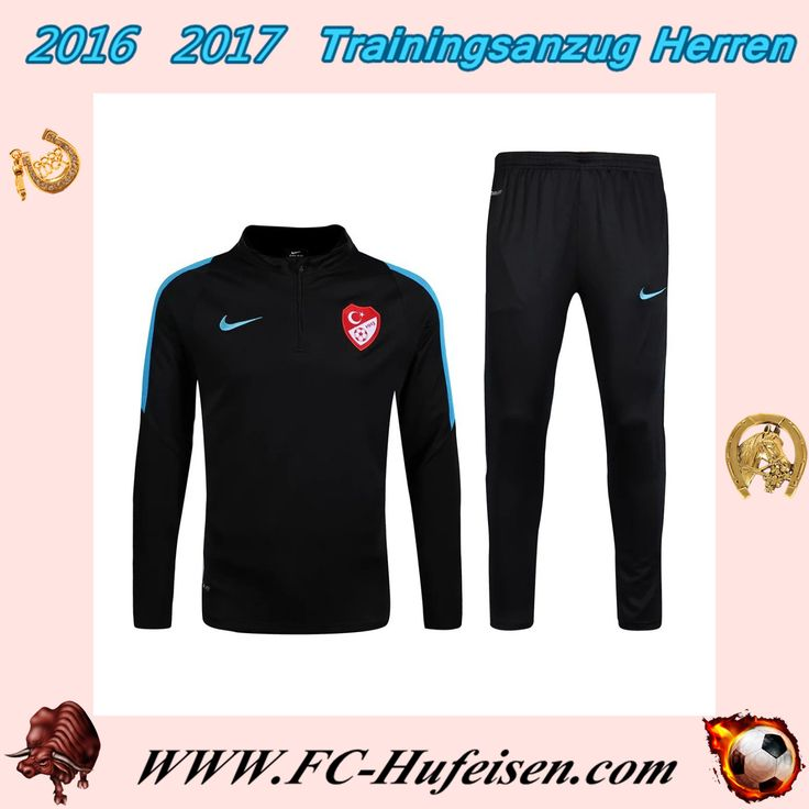 Klassiker Trainingsanzüge Fussball Herren Kits Türkei Schwarz Saison 2016 2017 Kaufen