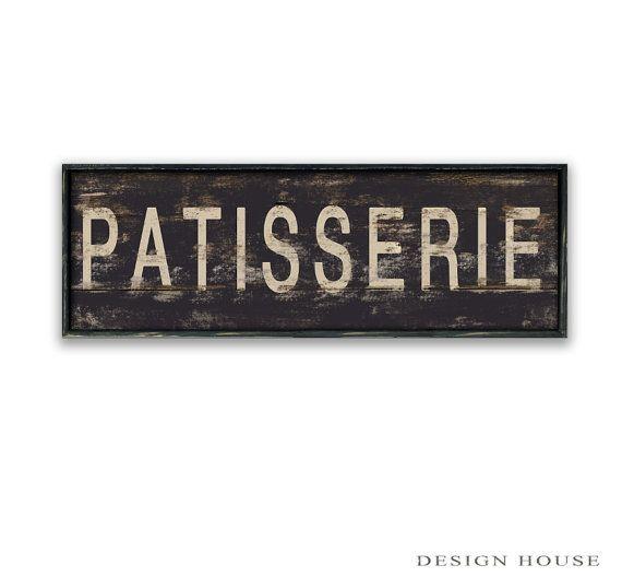 Patisserie houten teken Patisserie ondertekent door DesignHouseDecor