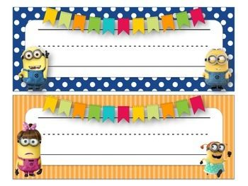 Desk Name Tags Name Tags And Minions On Pinterest
