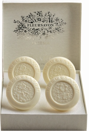 Rance Freesia Soap Box of Four, 100gr
