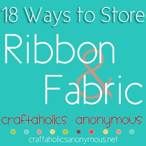 18 Great Ideas to store ribbon and fabric!: Fabrics Storage, Organizations Ideas, Crafts Rooms, Google Search, 18 Ideas, Sewing Storage, Sewing Rooms, Crafts Sewing, Storage Ideas