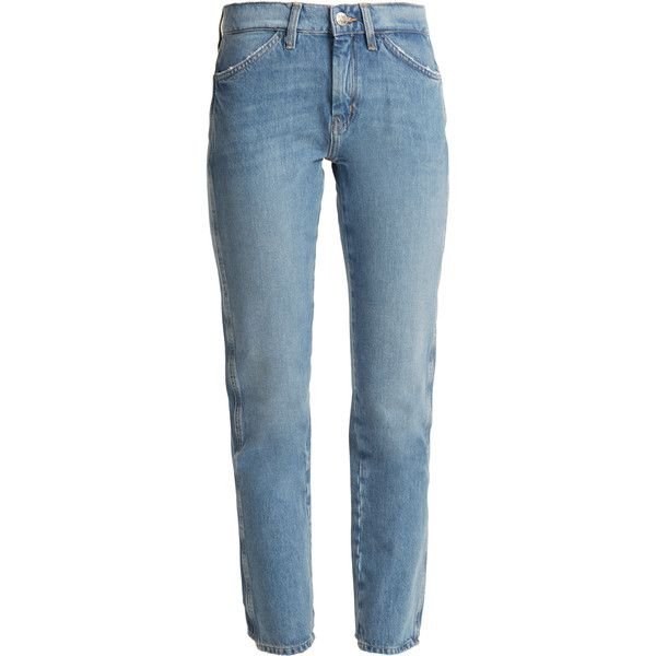 M.i.h Jeans Cult mid-rise straight-leg jeans (625 PEN) ❤ liked on Polyvore featuring jeans, pants, light denim, 5 pocket jeans, denim straight leg jeans, denim jeans, mid rise straight leg jeans and blue denim jeans