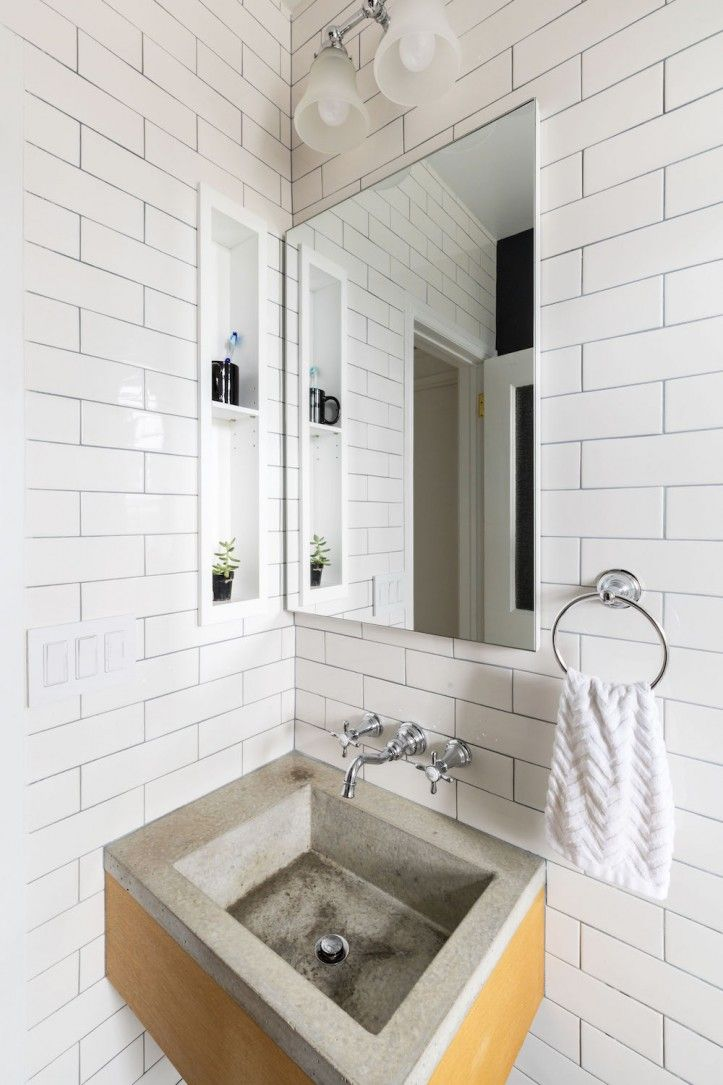 A Brooklyn Couple Slays The Storage Problem Mold In Bathroom