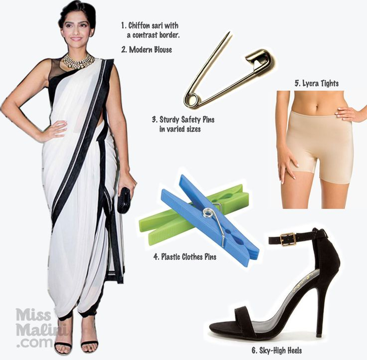 "Exclusive:+How+To+Drape+The+""Dhoti""+Sari+Like+Sonam+Kapoor!"