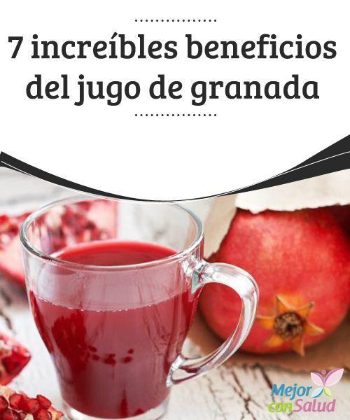 7 increíbles beneficios del jugo de granada   En este artículo te contaremos cuáles son los beneficios del jugo de granada. ¡Querrás disfrutarlo a partir de ahora! ¡Es muy bueno!