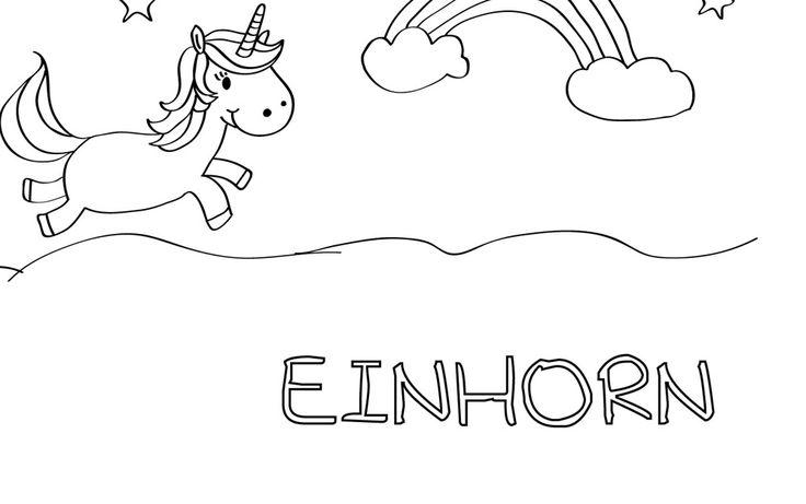 Die besten 17 Ideen zu Ausmalbilder Einhorn auf Pinterest ...