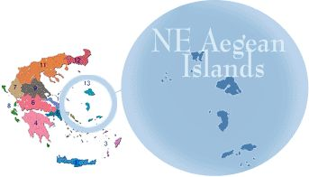 Region of NE Aegean Islands