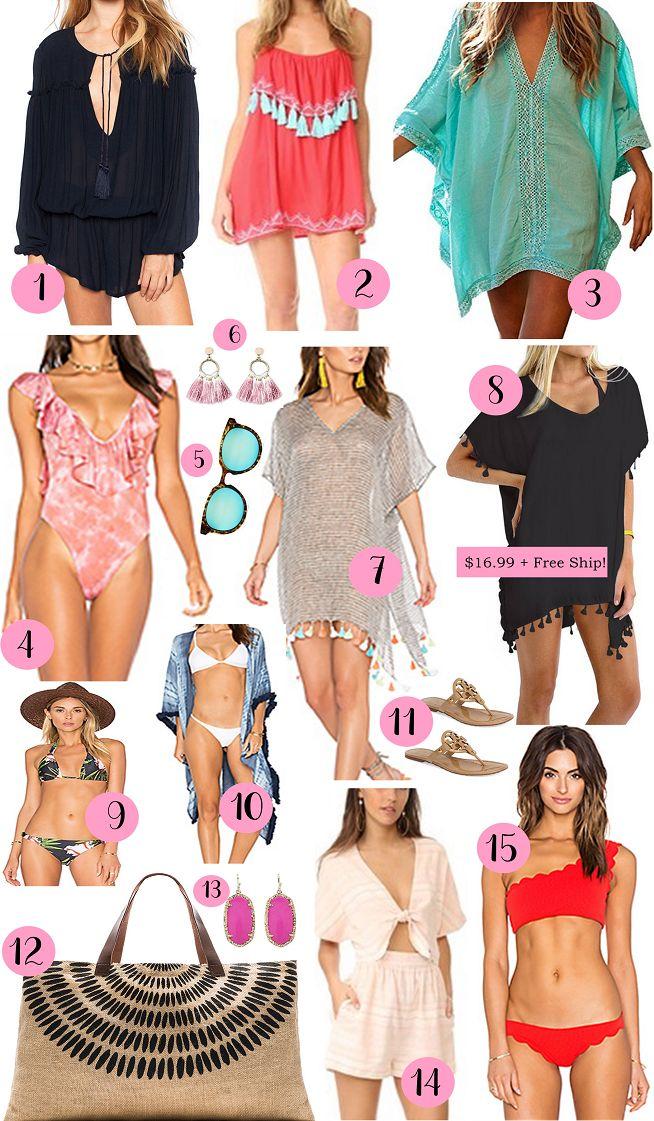 Swimwear guide, swimsuit cover ups, beachwear, cute cover ups, kimonos