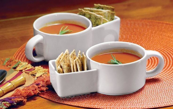 soup cup with cracker holder
