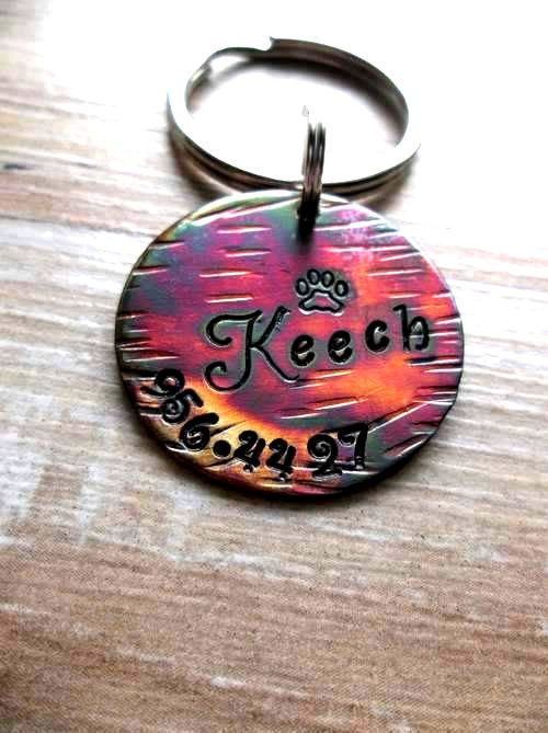 Pet ID Tag Pet Tag Pet Tags Engraved Pet Tag by FetchAPassionTags