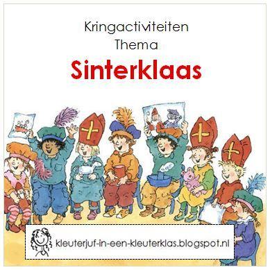 Kringactiviteiten bij verschillende vakgebieden bij het thema Sinterklaas.