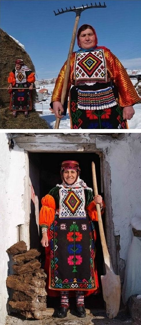 Traditional dress Damal district (Ardahan province).  Late 20th century, and still in use.  Ethnic group: Dadali Türkey